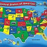 For 3-Year-Olds: Melissa & Doug USA Map Floor Puzzle