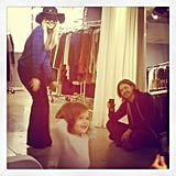 "Rachel Zoe and Rodger Berman had a ""Beyoncé dance break"" with their son, Skyler. Source: Instagram user rachelzoe"