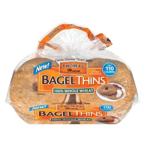 Thomas 100% Whole Wheat Pre-Sliced Bagel Thins