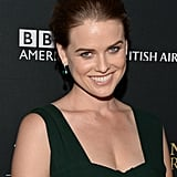 Alice Eve showed off her new brunette locks at the 2013 BAFTA LA Jaguar Britannia Awards.