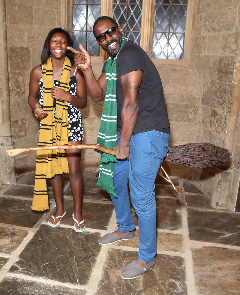 Surprise Harry Potter fan Idris Elba showed his support for Slytherin at the Warner Bros. Studio Tour London in Watford, England.