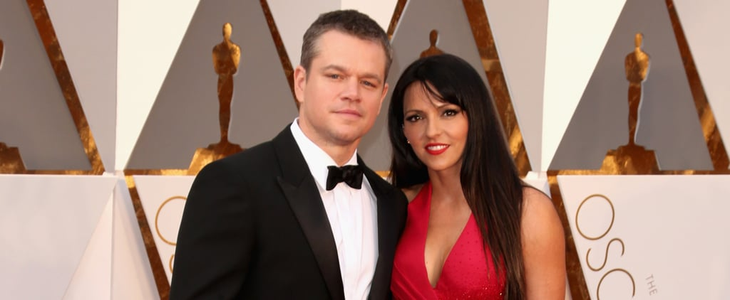 You Can Almost Feel the Heat Between Matt Damon and Luciana Barroso at the Oscars