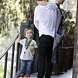 Orlando and Flynn Have a Boys' Brunch in LA