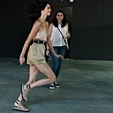 Kendall Practiced and Posed Backstage at Alberta Ferretti