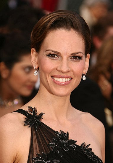 Hilary Swank at the Oscars: hair and makeup