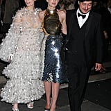 Carey Mulligan capped off her fashionable night with a photo between Florence Welch and her new husband Marcus Mumford.