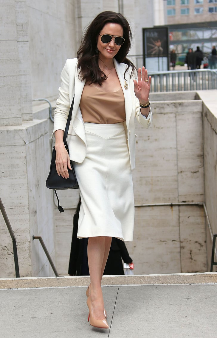 Neutral Separates Are Understated But Unmissable Angelina Jolie Street Style Popsugar