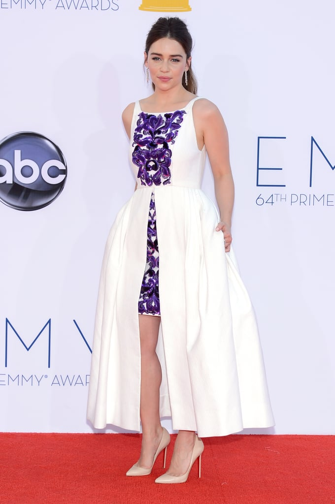 Emilia Clarke hit the red carpet at the Emmy Awards.