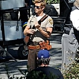 Ryan Kwanten headed to the set of True Blood in LA on Tuesday.