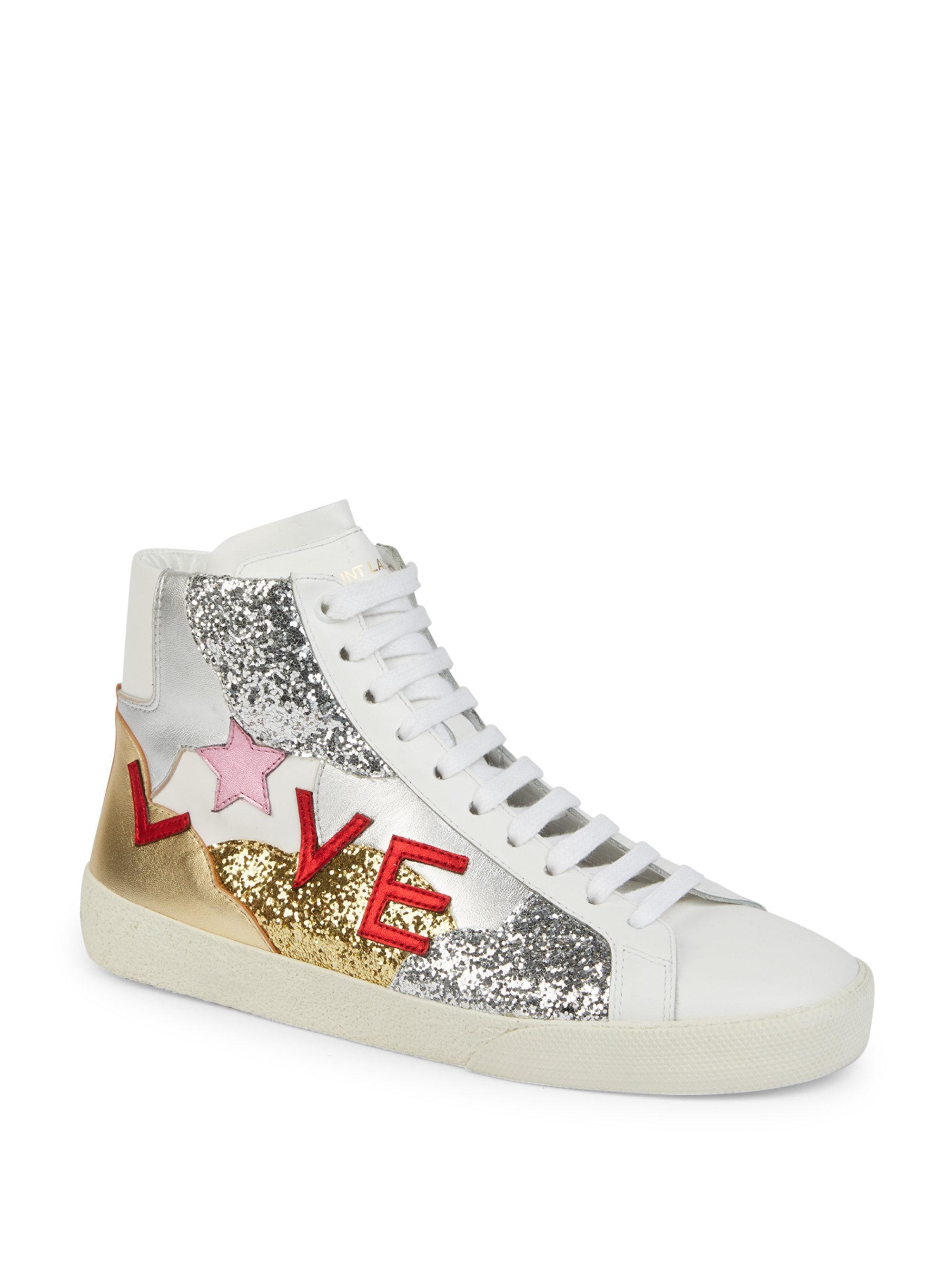 Saint Laurent Love High-Top Sneakers