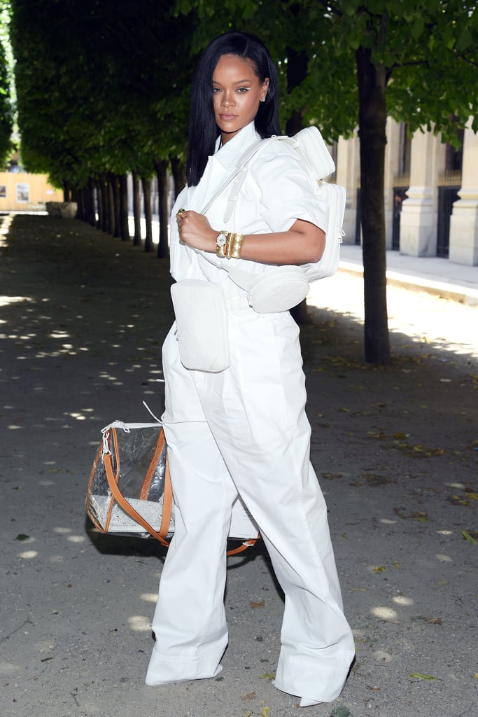 Rihanna at the Louis Vuitton Menswear Show Paris June 2018