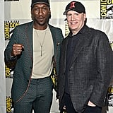 Pictured: Mahershala Ali and Kevin Feige at San Diego Comic-Con.