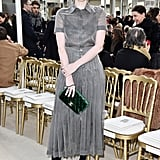 Karen Elson Attended With Her Velvet Green Clutch