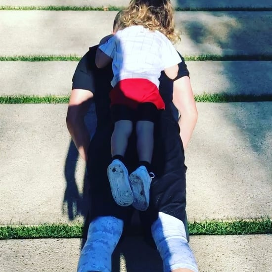 Justin Timberlake Working Out With Son on Instagram 2017