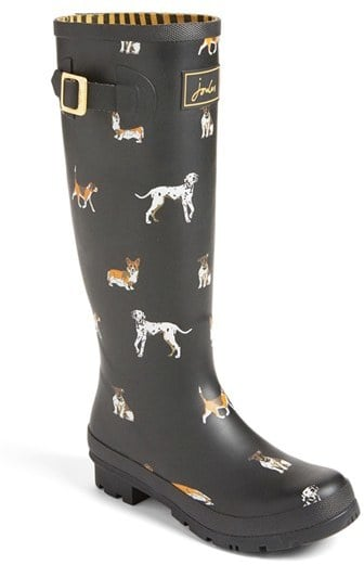Joules Women's 'Welly' Print Rain Boot