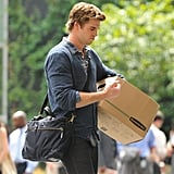 Liam Hemsworth Shooting Paranoia Pictures