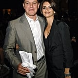 But before settling down with Javier, she dated Matt Damon. They were linked while filming 2000's All the Pretty Horses.