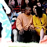 Kendall Jenner and Kanye West at Fashion Show June 2016