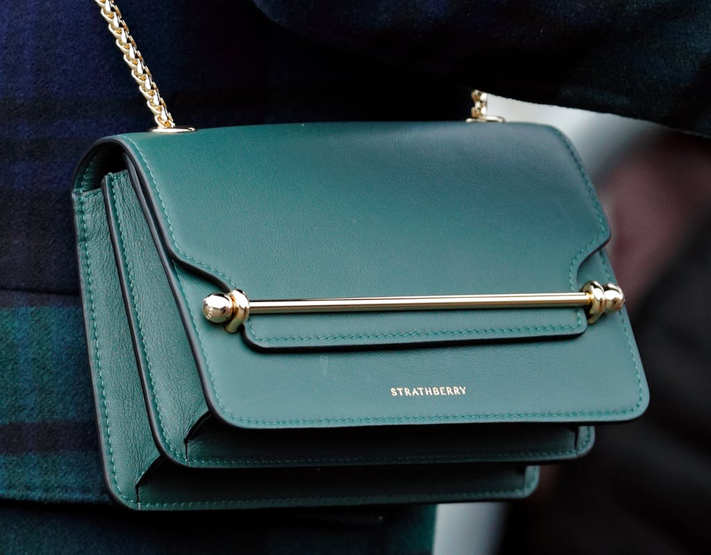Wearing the East/West Leather Crossbody Bag