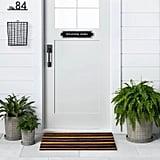 Door Mat With Black Stripes