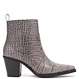Ganni Callie Western Crocodile-Effect Leather Boots