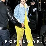 Selena Gomez Yellow Calvin Klein Dress