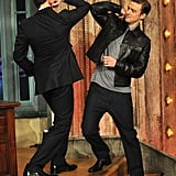 "Justin Timberlake kicked off his weeklong stint on Late Night With Jimmy Fallon on March 11. He cleared up rumors of a Kanye West feud that were sparked when he sang that he's got ""rappers acting dramatic"" on Saturday Night Live, telling Jimmy, ""For the record, I absolutely love Kanye."""