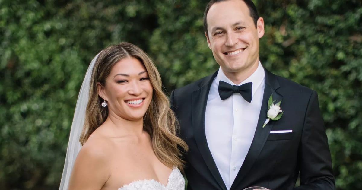 """Jenna Uschkowitz's Dreamy Summer Wedding Dress Captures Her """"Clean and Classic"""" Style.jpg"""