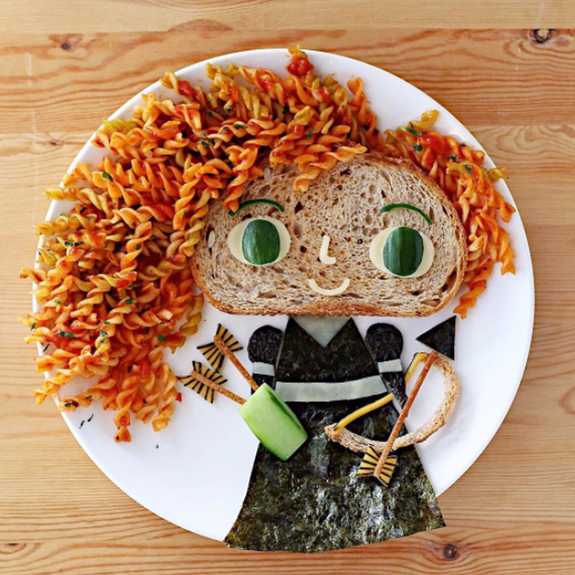 food turned into an art piece on a plate