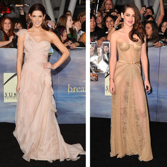 Kristen Stewart in Nude Dress at Breaking Dawn Part 2
