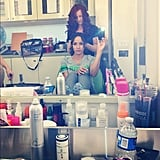 Dania Ramirez took a photo before she transformed for Devious Maids. Source: Instagram user markofthebeast