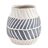 Gray Chevron Mini Vase