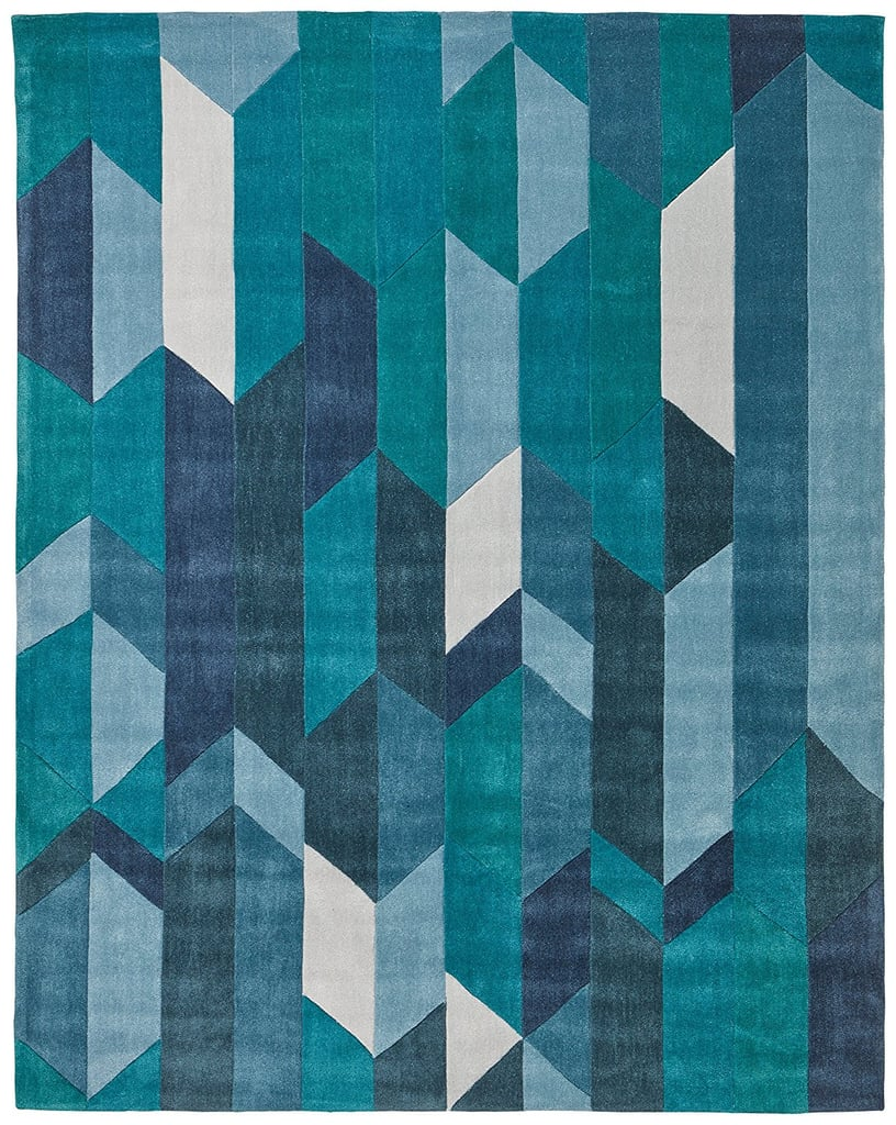 "7'6""x9'6"" Geometric Color Blocking Rug ($349)"