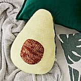 Avocado Crochet Throw Pillow
