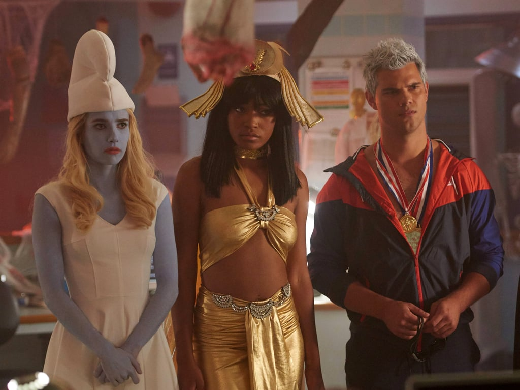 Emma Roberts as Chanel, Keke Palmer as Zayday, and Taylor Lautner as Dr. Cassidy Cascade.
