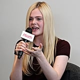 Elle Fanning spoke at the  Variety Studio in LA.