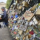 Add a Lock to the Pont des Arts Bridge in Paris