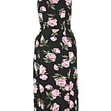 6b40a1954e ... Topshop Floral Strappy Back Midi Dress ...