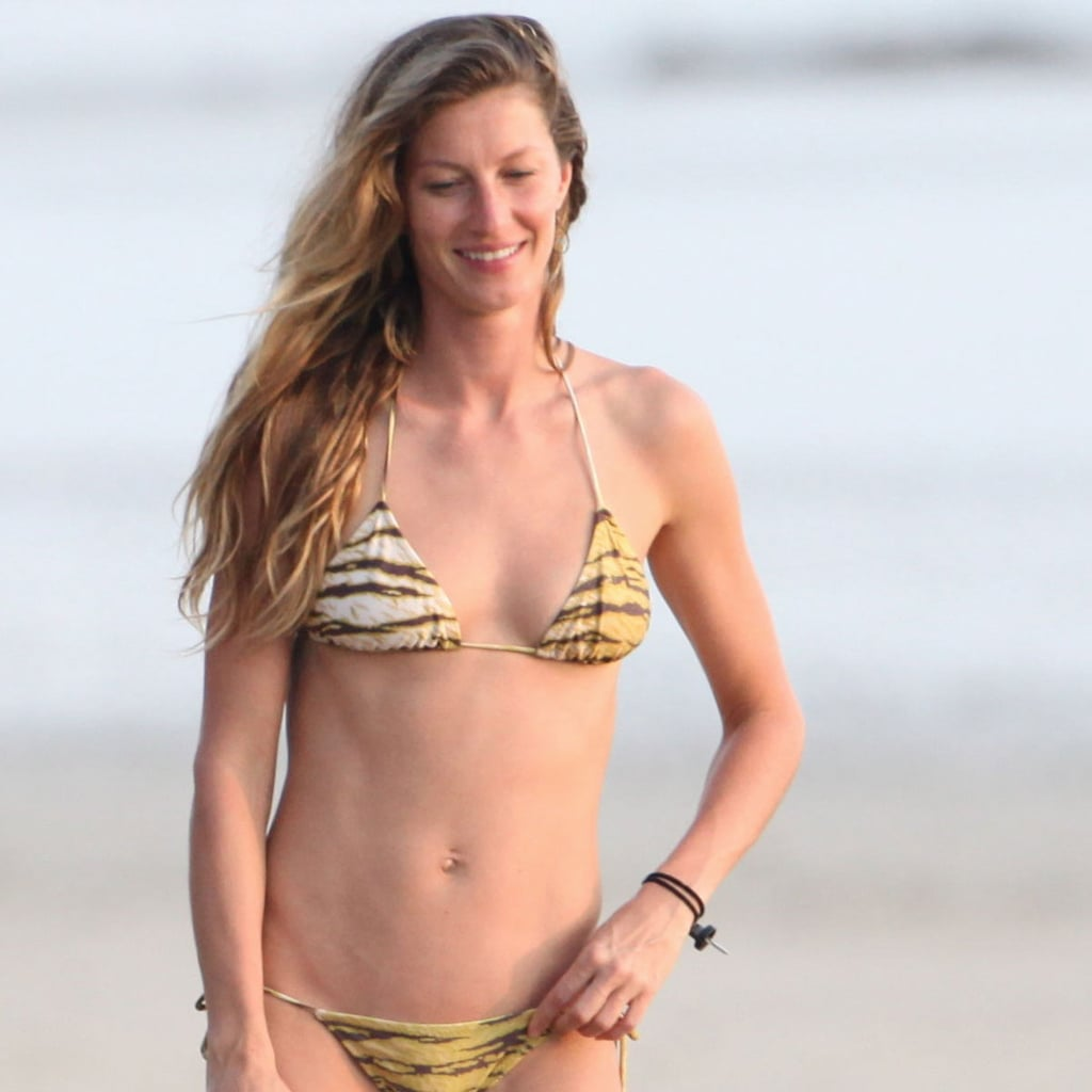 Gisele Bundchen wore a bikini in Costa Rica.