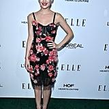 Lucy Hale Wearing Marchesa