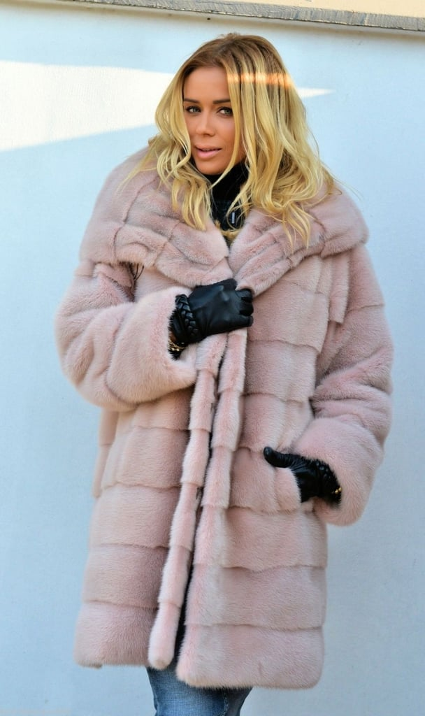 Aofur Faux Fur Hooded Coat