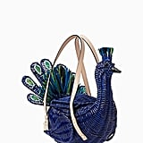 The Kate Spade New York bag of the season is the Full Plume Wicker Peacock ($458).
