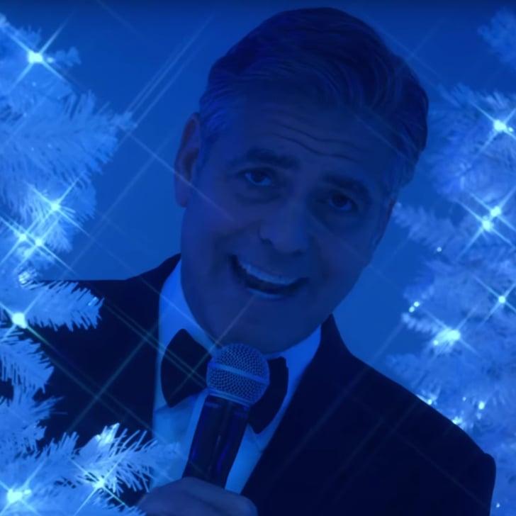 George Clooney Sings in Bill Murray's Christmas Special | POPSUGAR ...