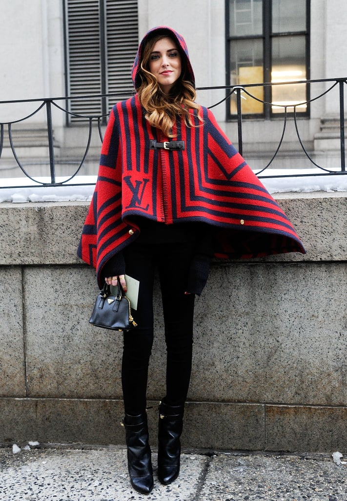 Eye-Catching Pieces Like a Bold Poncho Pair Perfectly With Sleek Leggings