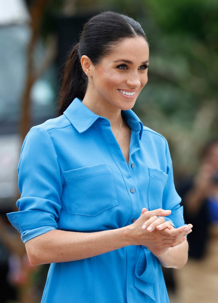 Meghan Markle Wearing Blue During Her Pregnancy 2019 -5685