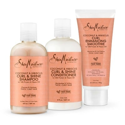 SheaMoisture's Coconut and Hibiscus Curl Defining Hair Kit