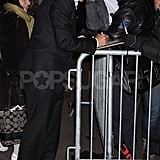 George Clooney signed autographs on his way to Good Morning America.