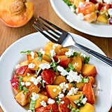 Fresh Peach and Basil Breakfast Salad