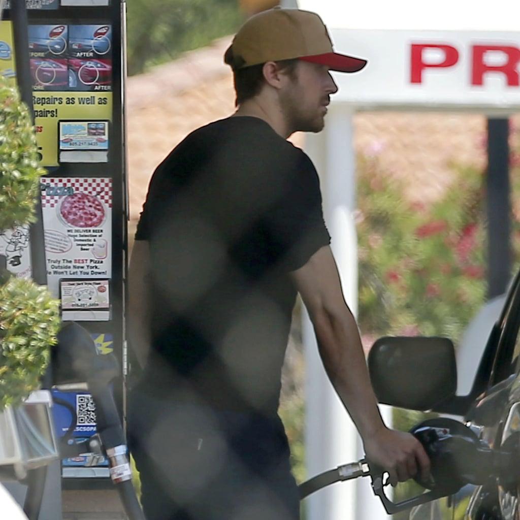 Ryan Gosling Getting Gas in LA