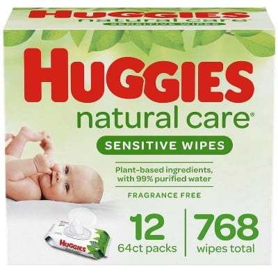 Huggies Natural Care Fragrance-Free Sensitive Baby Wipes